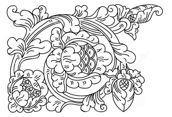 Motif seni ukir Yogyakarta
